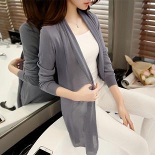 新款韩版镂空披肩针织衫