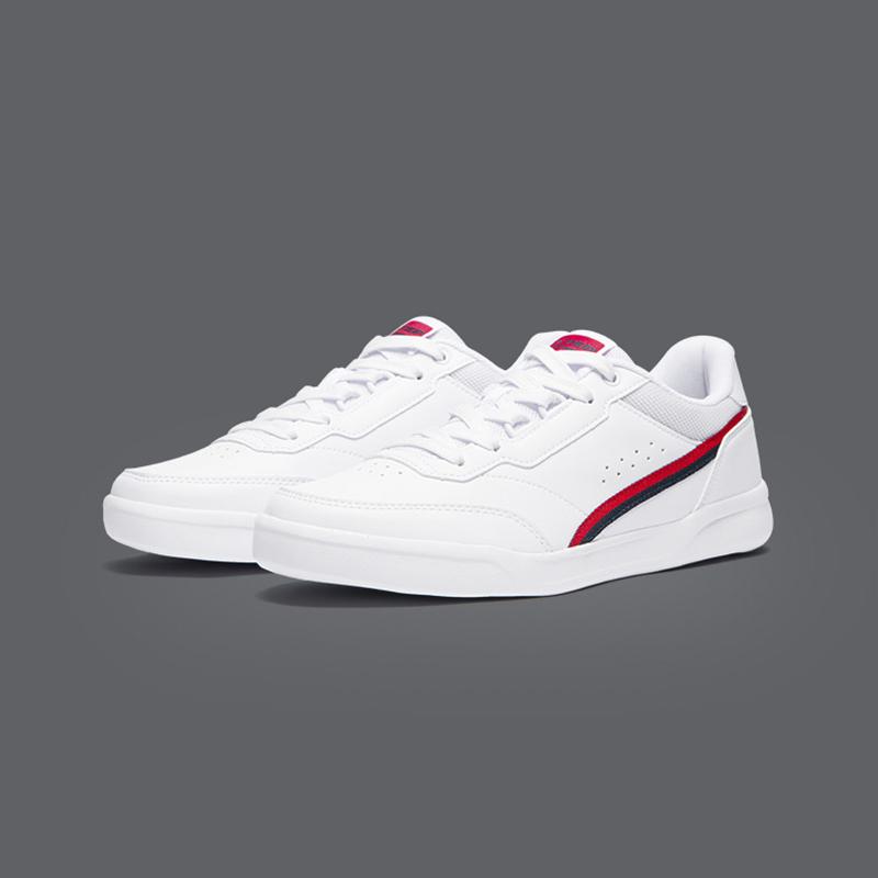 Giày nam Xtep giày 2020 mùa xuân mới nhẹ thoải mái giày trượt ván thời trang phẳng giày thể thao màu trắng - Dép / giày thường