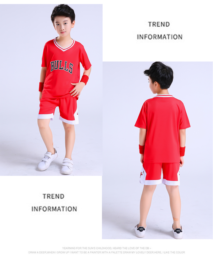 2180ed2fad3 Children's basketball uniforms boys and girls training short-sleeved ...