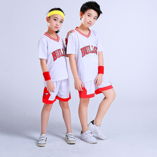 79422dad937 Children's basketball uniforms boys and girls training short-sleeved jersey  suits custom kindergarten primary school youth team uniforms