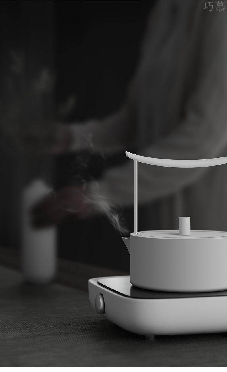 Qiao mu electric TaoLu permeating the tea stove silver pot mini ceramic glass plates iron pot pot steaming tea stove boiling tea