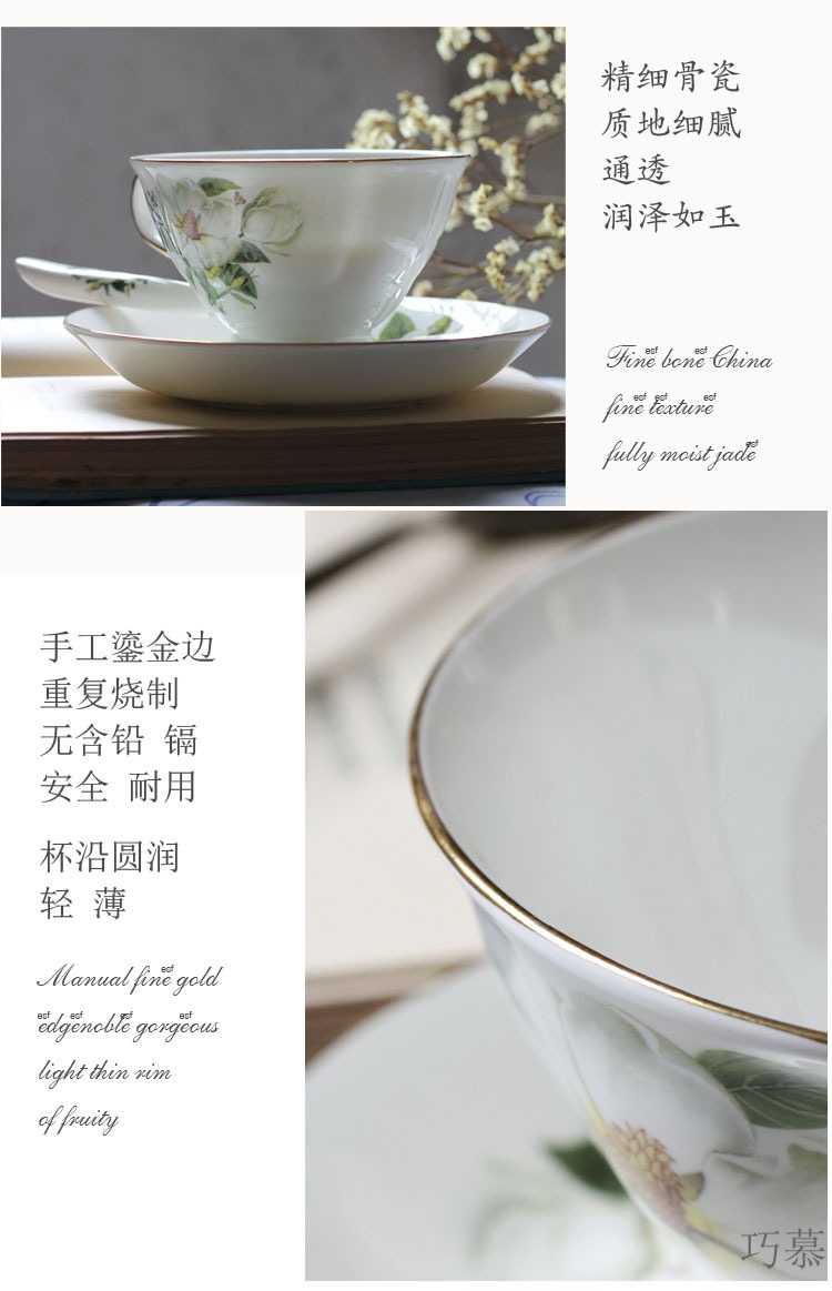 Qiao longed for ipads China continental red cup coffee cup set contracted household water cup English afternoon tea of a complete set of 3 times