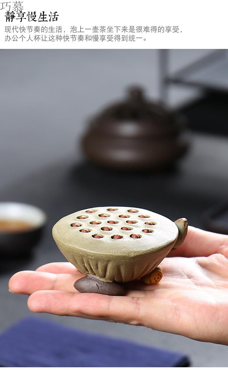 "Qiao mu furnishing articles pet boutique purple sand tea to raise pig water lotus tea tea play ""the tea table - the kangaroo undressed ore by hand"