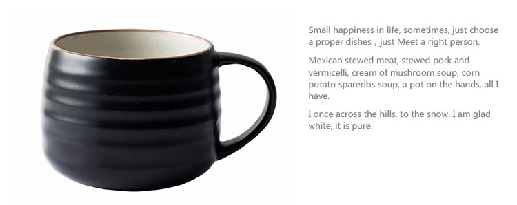 Qiao mu DY creative move cups of coffee mugs ceramic cup cup ceramic high - capacity, lovely glass cup