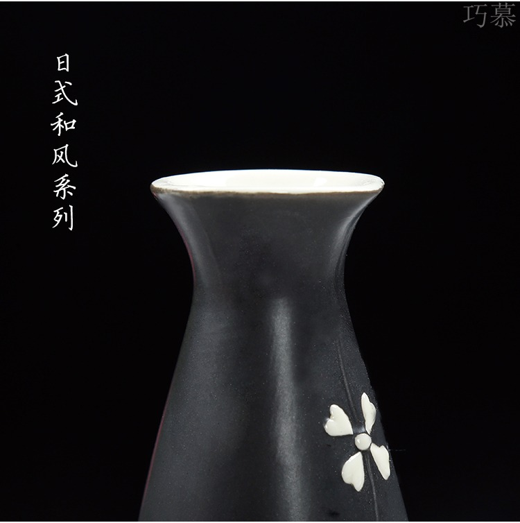 Qiao mu hand - made sakura, hip ceramic wine suits for Japanese wine and liquor pot temperature wine pot 3 two hip flask of Chinese style