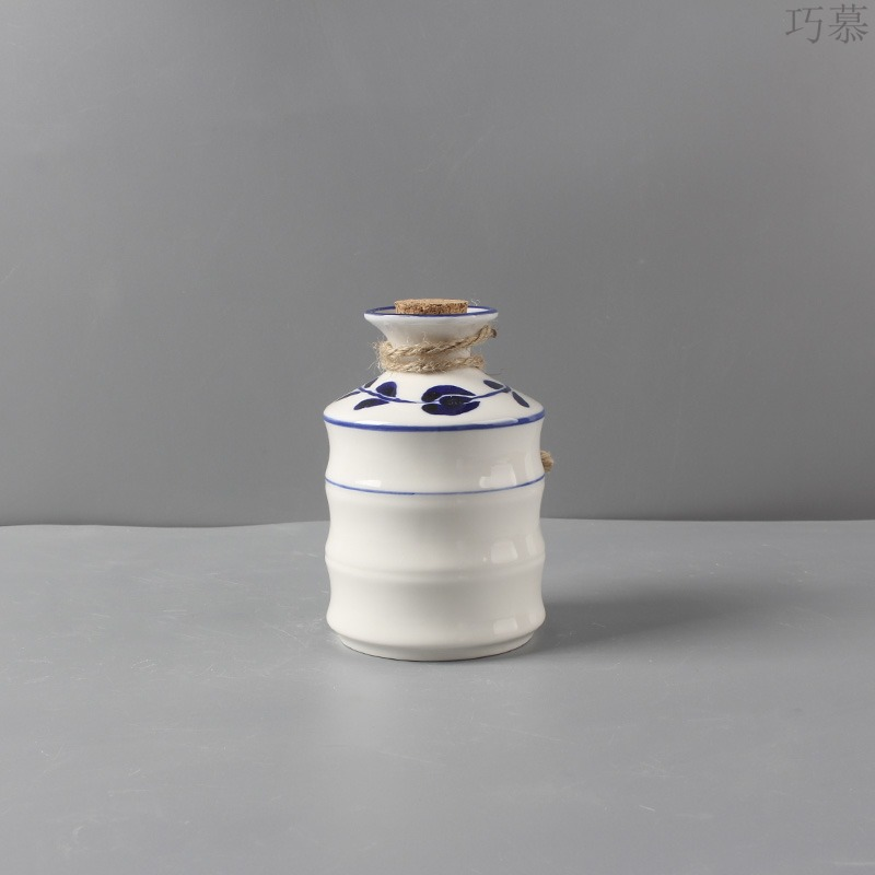 Blue and white wine decanters points for hand - made ceramic opportunely temperature wine pot hot wine wine warm hot hot hip Japanese wine