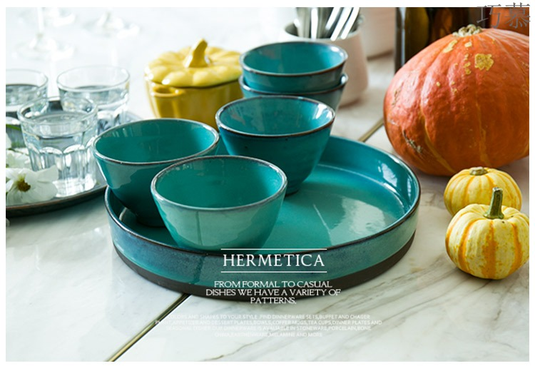 Qiao mu DY the creative combination of rectangular plate trays put SaPan meal tea tray of fruit bowl dish plate of ceramic plate