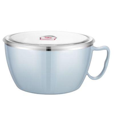 不锈钢泡面碗带盖单个宿舍学生饭盒上班族便携保温便当盒饭沙拉碗