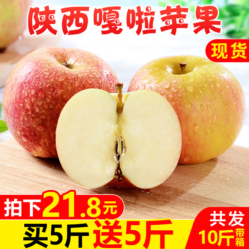 (Buy 1 Get 1 free) Shaanxi gala apple fruit box 10 kg fresh season Red Fuji ugly pingguo whole
