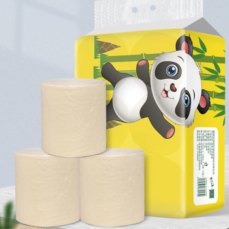 大卷卫生纸�家用本色卷纸母婴用纸家庭实惠装厕纸手纸巾卷筒纸