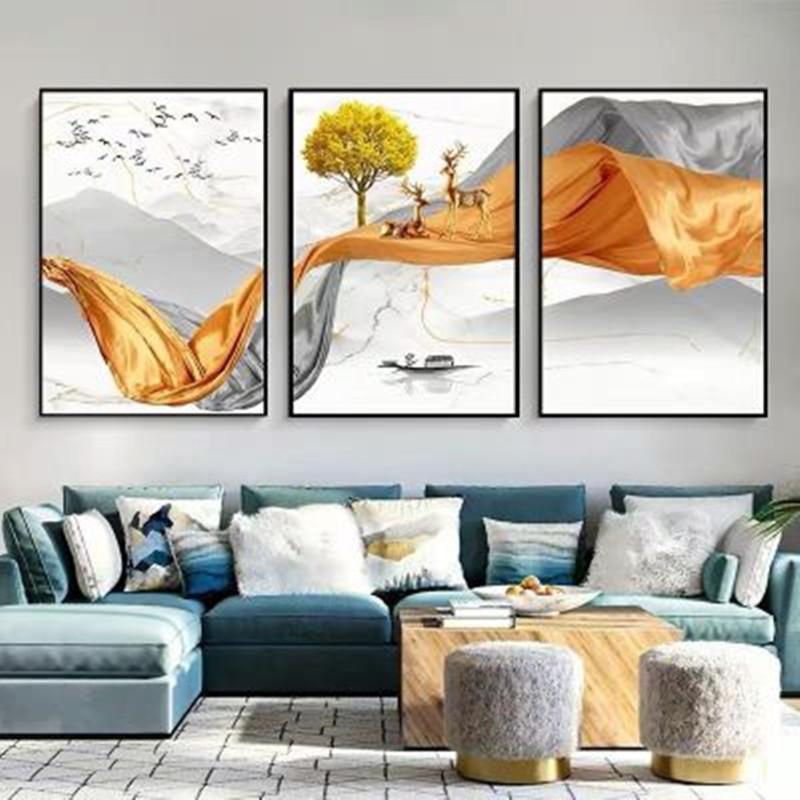 石来运转客厅装饰画现代简约沙发