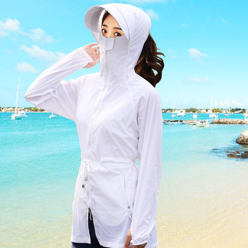 防晒衣女短款防紫外线透气2020新款长袖夏薄款短外套防晒衫服女式