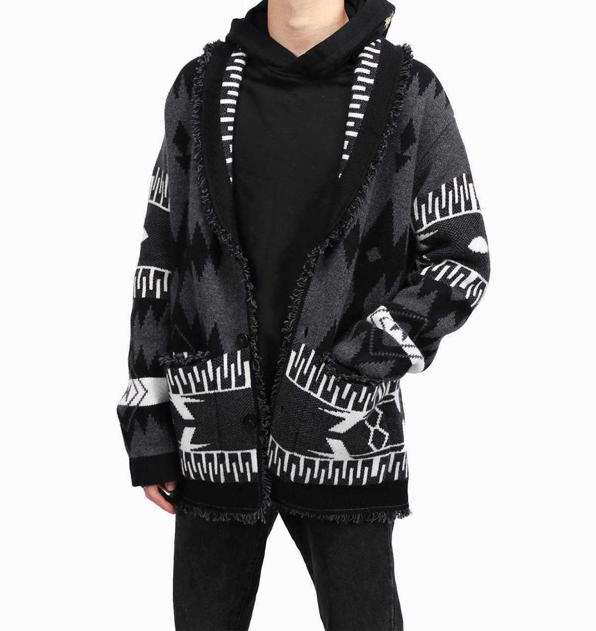 Danh sách thần hàng năm !! ALANUI phong cách nặng nề Hanshan nhung trắng tấm hoa handmade là chiếc áo len cashmere nặng hoang dã - Áo len Cashmere