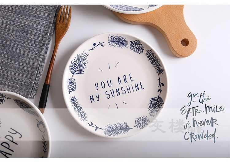 The kitchen creative dinner plate breakfast hotel ceramic plate to use cake plates straight suit manufacturer