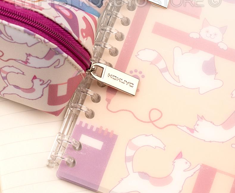 @斯貝拉小鋪 國譽有范 kokuyo國譽2021新品文具貓筆袋·ASSORT·滌綸學生用可愛大容量隔層收納袋