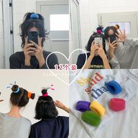 Xin помочь кольцо толстой кишки корейский нетто красный Резинка для волос корейская версия Милые волосы веревка густые волосы веревка резинкой женская голова