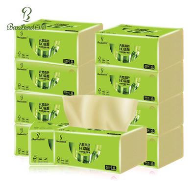 【百丽】原生竹浆本色抽纸巾4层10包