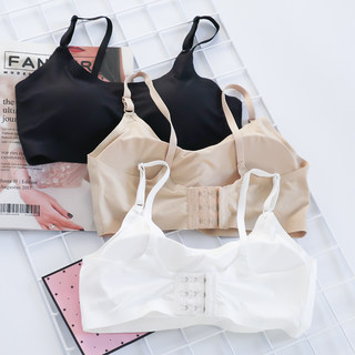 Ice silk beauty back wrapped chest strap chest pad sexy gathered tube top primer anti-glare camisole female underwear student summer