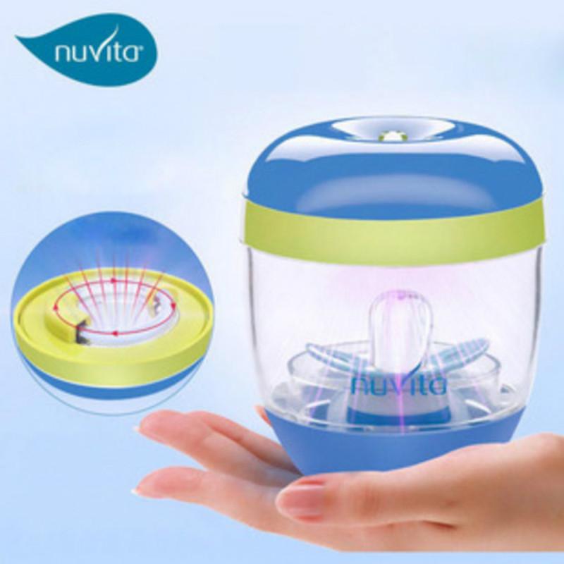 意大利进口nuvita婴幼儿奶瓶消毒器紫外线奶嘴杀菌器便携式用品