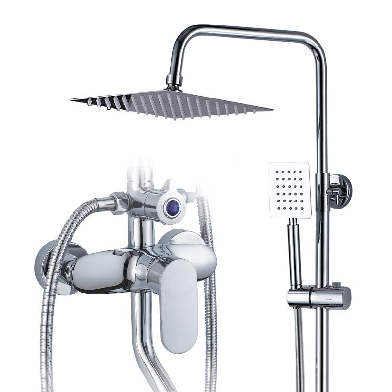 荣事达淋浴花洒套装家用沐浴淋雨喷头套装全铜龙头洗澡神器淋浴器