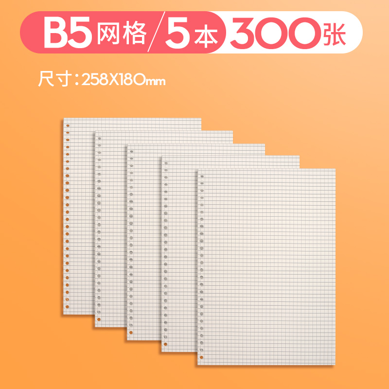 B5 GRID / 300 SHEETS (NO GIFTS)