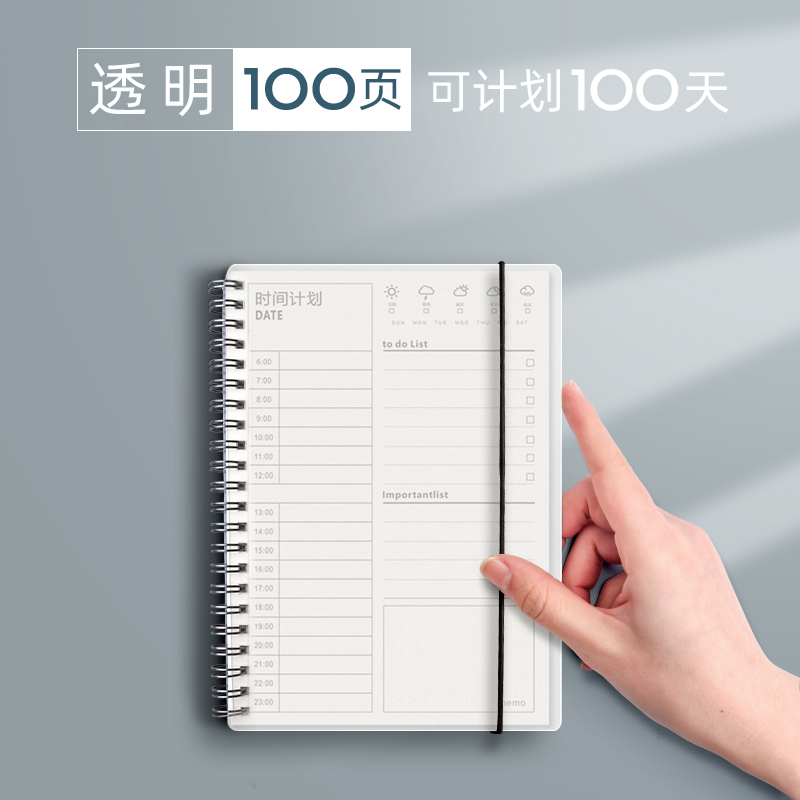 Transparent / 100 Pages (100 Days Can Be Planned)
