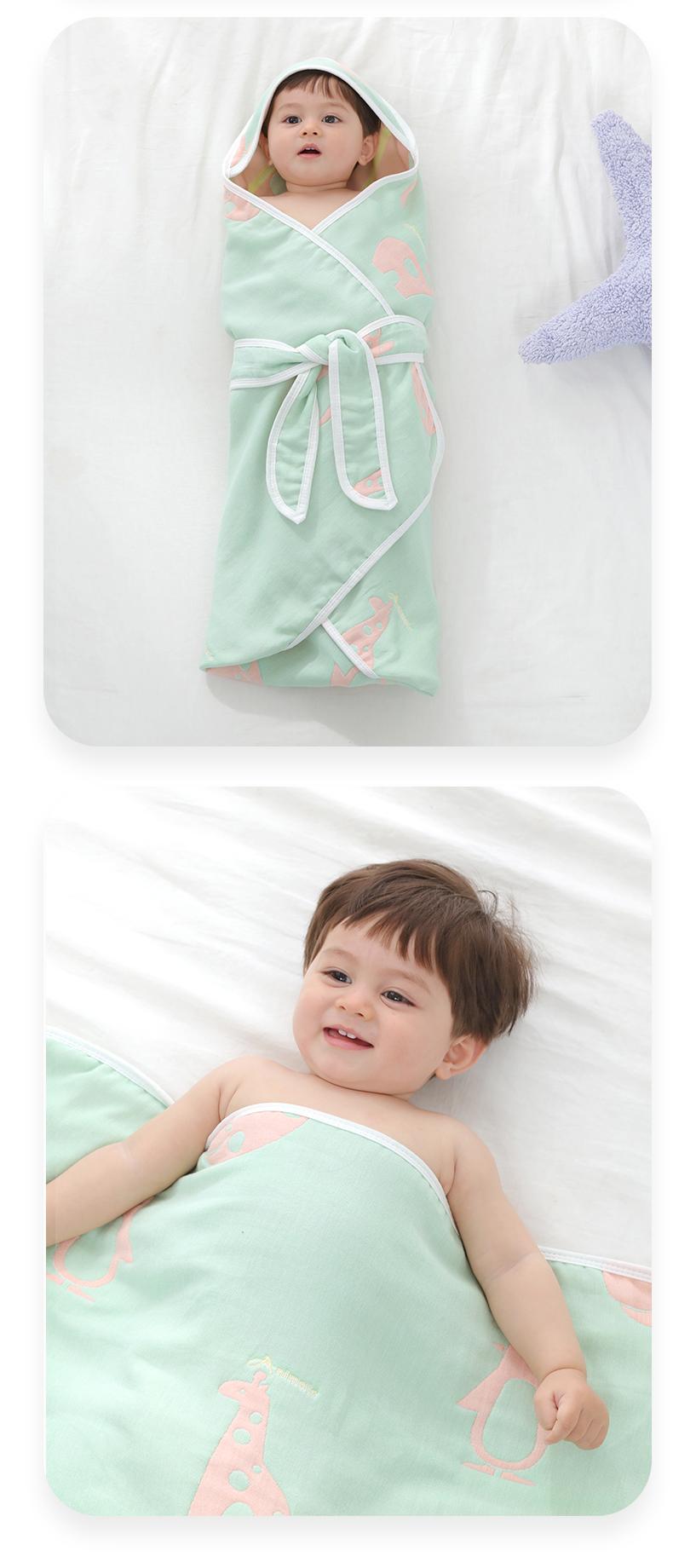 新生初生婴儿抱被纯棉纱布春秋夏季薄款产房包被包巾婴儿用品包单详细照片
