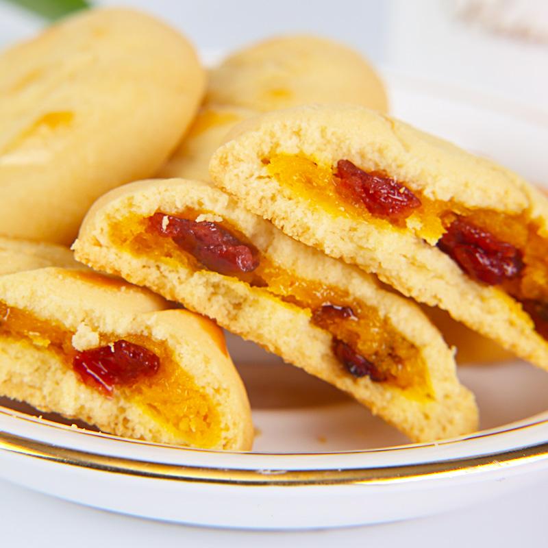 爆浆软心曲奇蔓越莓味夹心法式松饼-优惠后3元包邮
