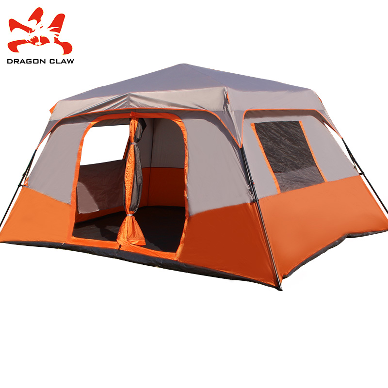 Two room large tent tents outdoor 4-10 people full-automatic multi-person c&ing Double rain-proof hydraulic family tent  sc 1 st  EnglishTaobao.net & USD 180.00] Two room large tent tents outdoor 4-10 people full ...