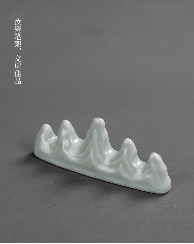 Jingdezhen ceramic rockery brush pen writing frame four treasures of the study of creative students study calligraphy furnishing articles supplies