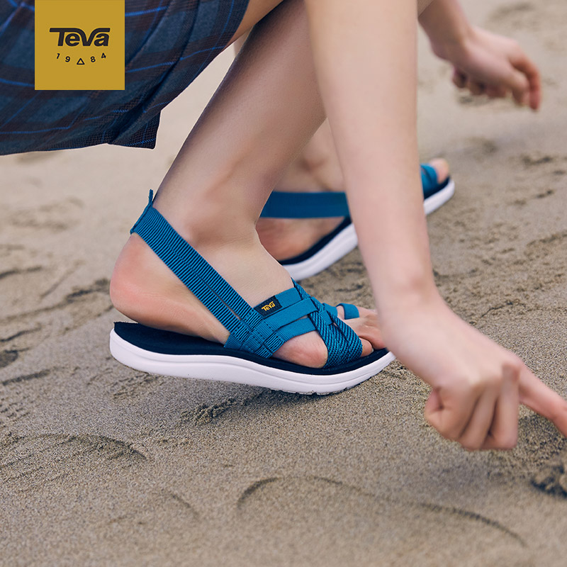 Teva Voya Strappy 夹趾快干 女式凉鞋 36码4折$17.13 海淘转运到手约¥177 中亚Prime会员凑单免运费直邮到手约¥161
