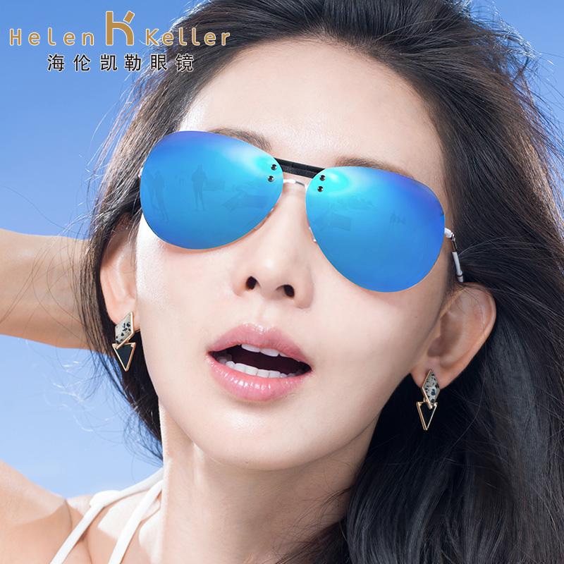 海伦凯勒近视墨镜夹片式男女偏光开车司机驾驶飞行员蛤蟆太阳镜