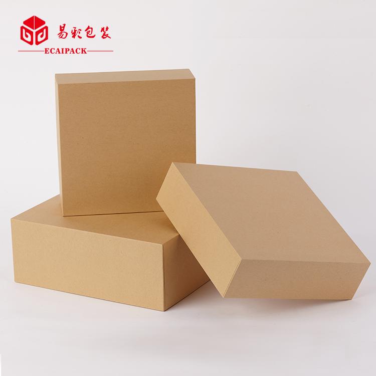 牛皮纸礼品盒 包装盒皮带腰带口红纸盒正方形天地盖现货礼盒定制