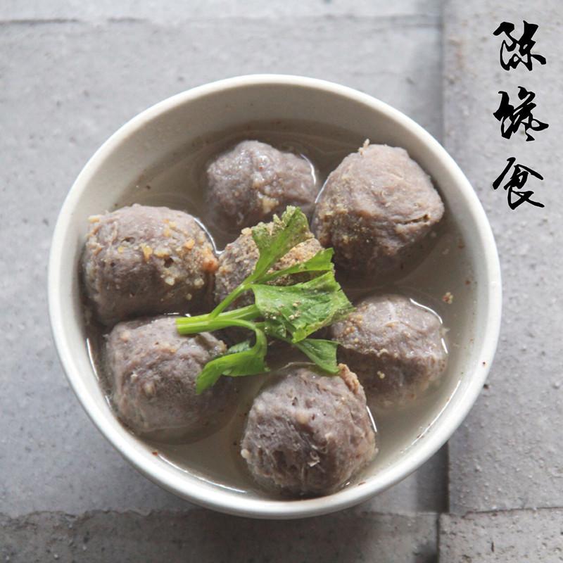陈馋食潮汕正宗手打牛肉丸牛筋丸弹牙汕头特产火锅食材烧烤1000g