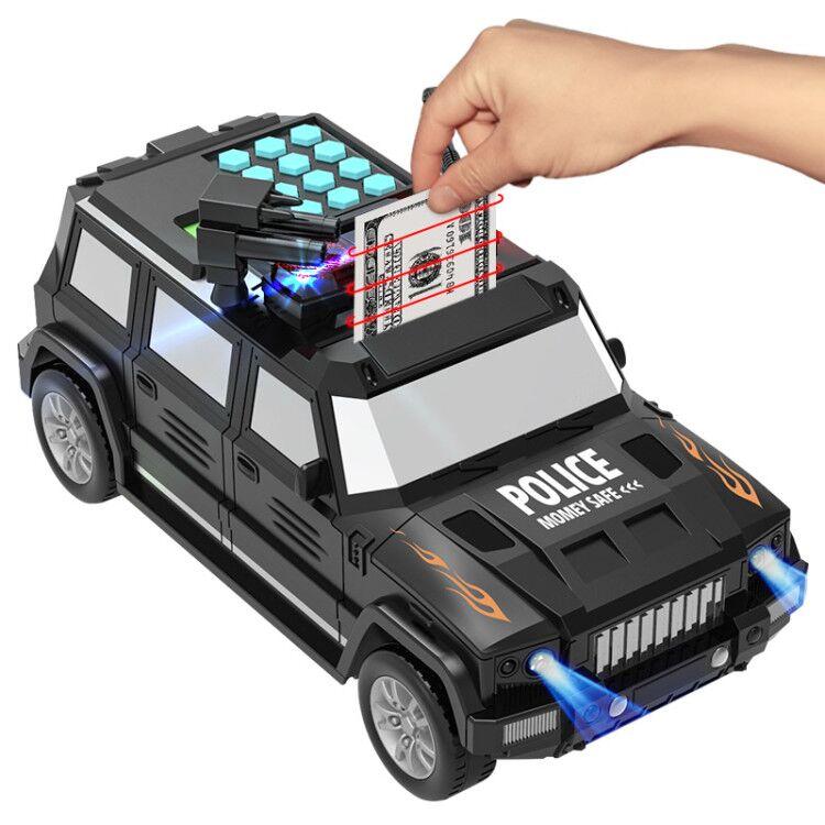 圣诞礼物运钞车存钱罐儿童大号玩具汽储蓄网红密码箱男孩防摔抖音