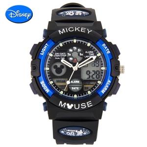 正品迪士尼手表儿童手表米奇夜光运动表女孩男童小学生防水电子表