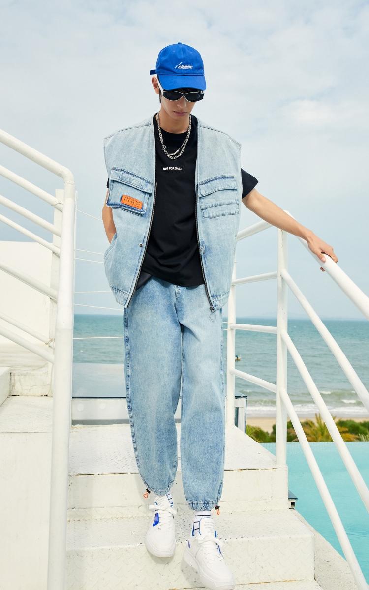 杰克琼斯21夏新品 冰丝感薄款修身情侣纯色百搭美式打底短袖T恤男(杰克琼斯冰丝感薄款修身百搭T恤男)