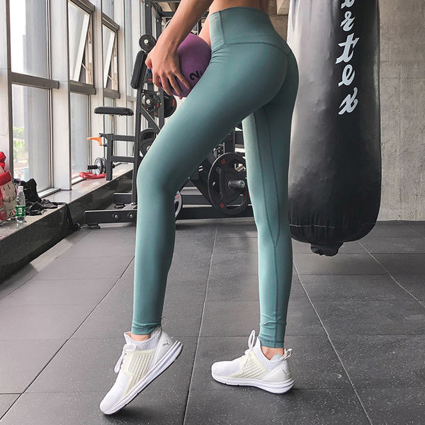 8eb1d8c6a4313 Net red yoga pants female tight high waist quick-drying fitness pants  sports tight peach hips ...