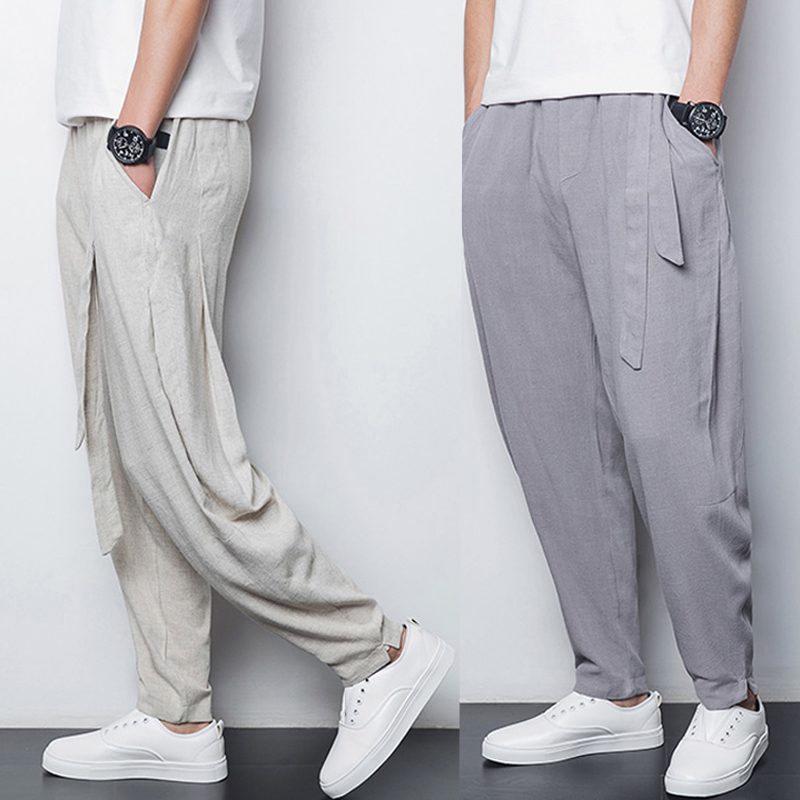 6ef977a265d USD 34.74  Men s loose casual pants Chinese wind linen pants male ...