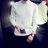 Men's Slim Bottoming Shirt Turtleneck Sweater Solid Color Sweater Long Sleeve Korean Winter Thicken Sweater Men's Wear