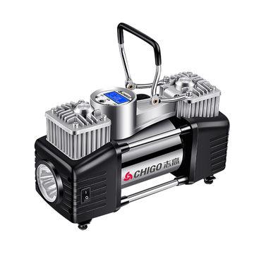 【志高】车载充气泵12V双缸便携式