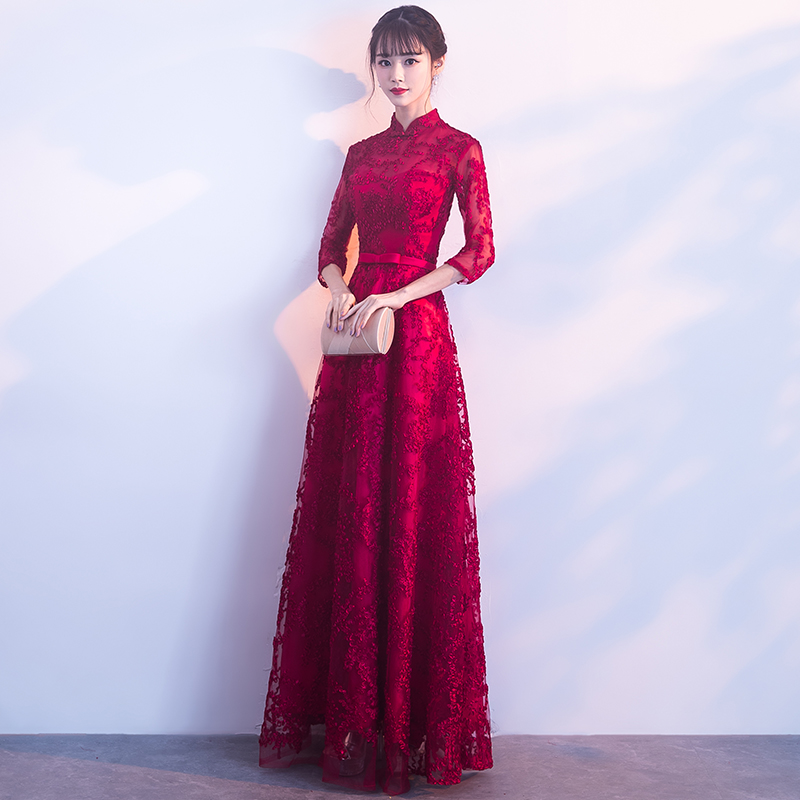 Bride Toast Service 2018 New Spring Dignified Atmosphere Long