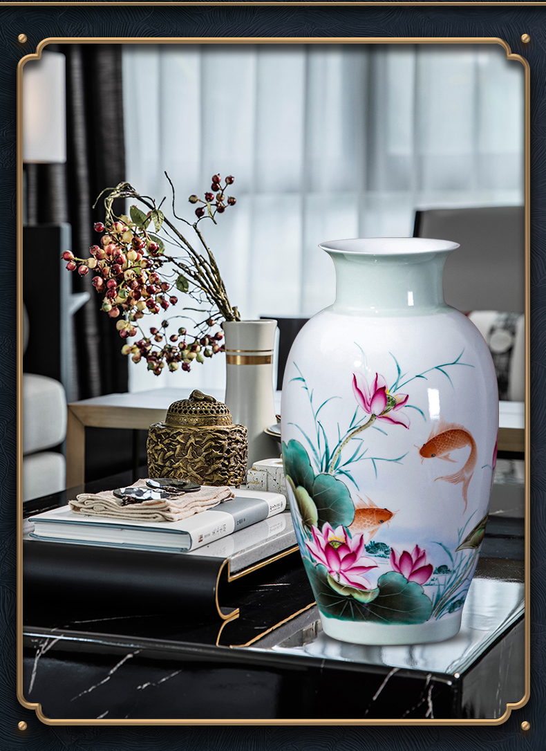 The Master of jingdezhen ceramic hand - made vases, new Chinese style porch desktop decoration flower arrangement sitting room home furnishing articles