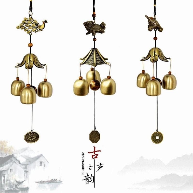 开门铃铛店铺挂门上的古风风铃挂饰中式复古挂件招财门铃进门玻璃