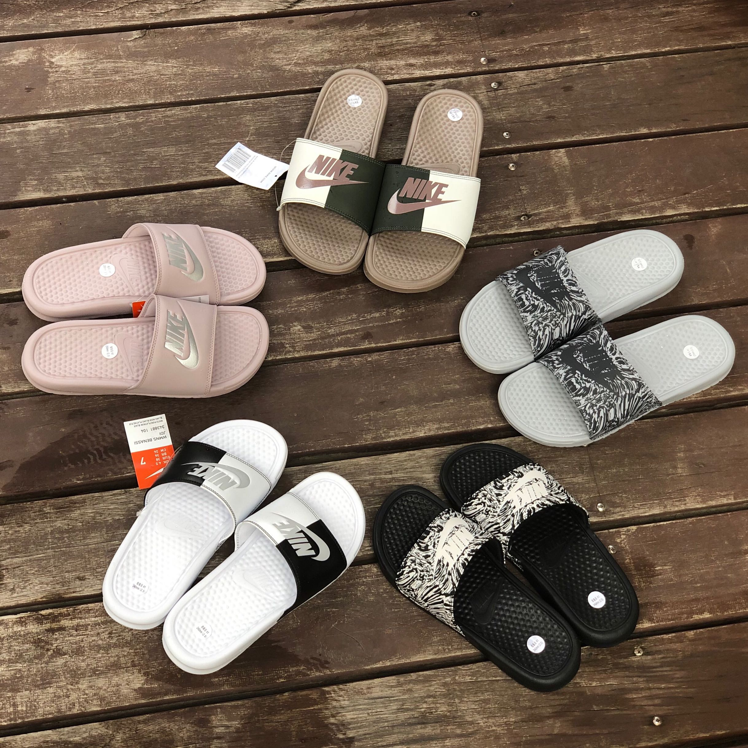 new product 66ae7 88621 Nike JDI men and women couple slippers 343881-108 631261-024-006  618919-029-113