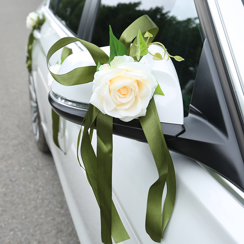 Simulation sub car wedding car decoration float door handle Rear view mirror Float fleet decoration sucker Champagne pink
