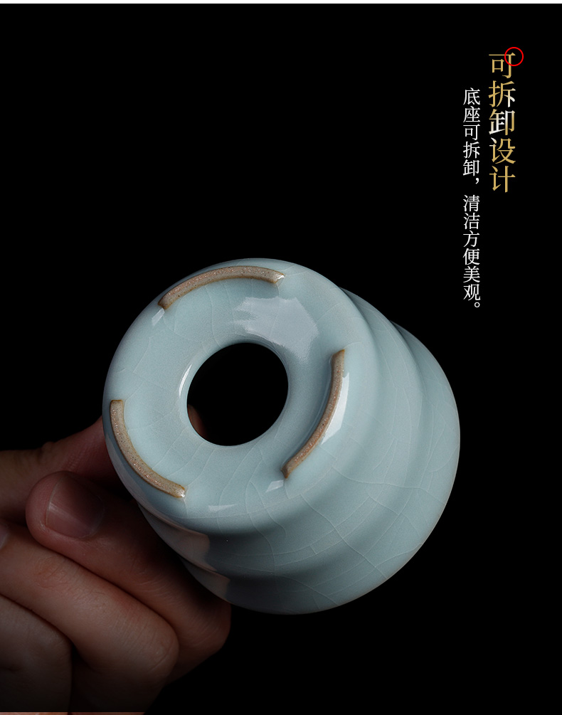 Your up) mercifully tea filters of household ceramics slicing can raise tea filter kung fu tea accessories tea - leaf filter