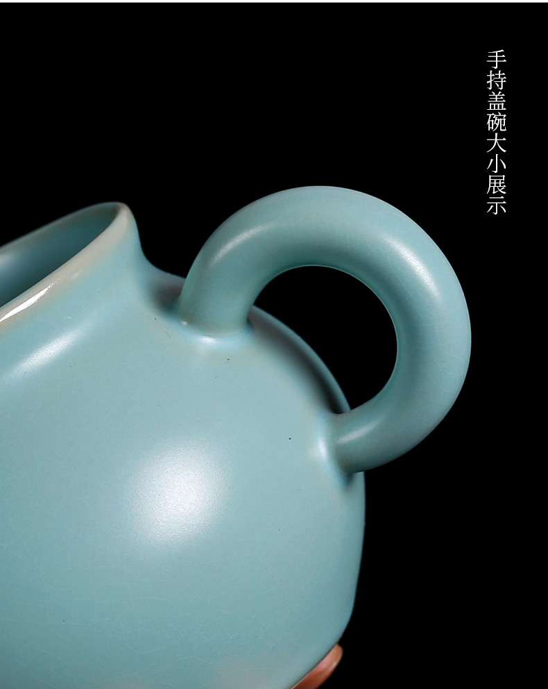 Kung fu tea tea boy your up fair keller cup tea sea separated piece can raise glass ceramic individual household