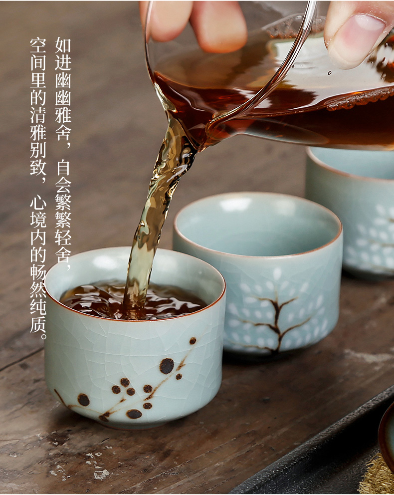 Your porcelain teacup personal single cup ice to crack Your up ceramics glaze slicing can keep pure manual hand - made master cup sample tea cup