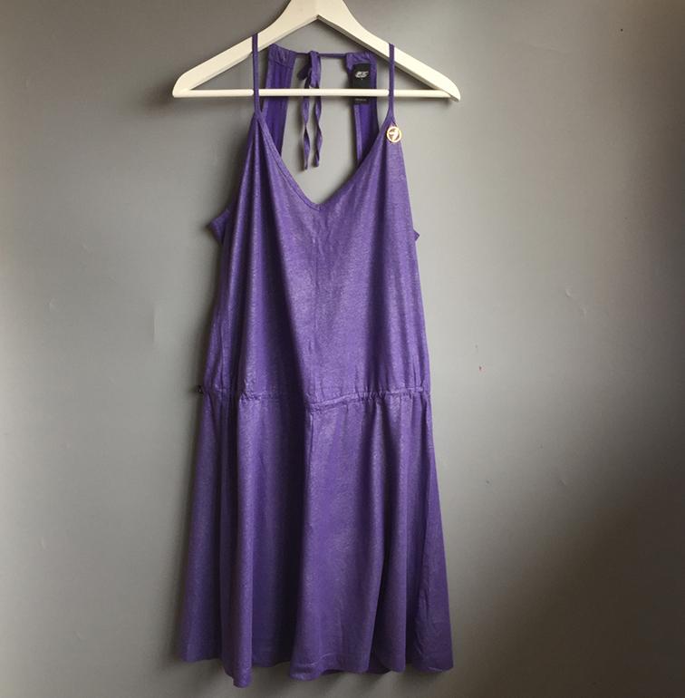 正品Diesel迪赛55DSL女生闪光紫色背心吊带衫连衣裙--特价清货